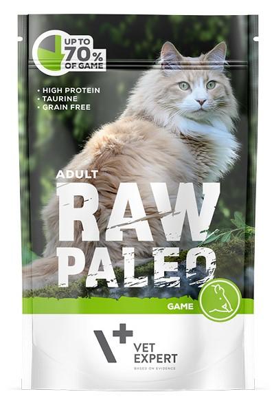 RAW PALEO CAT ADULT GAME - karma mokra dla dorosłych kotów z dziczyzną 100 g