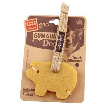 Gum Gum Dog Pig Small-gryzak świnka dla psa z naturalnej gumy