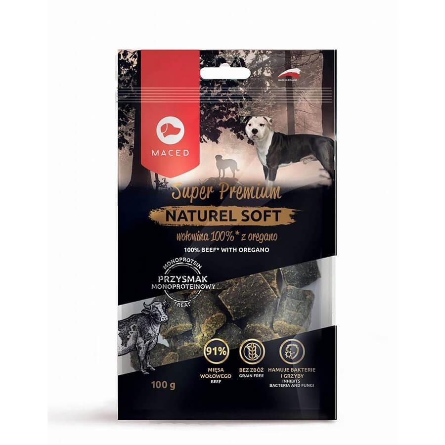 MACED Super Premium Naturel Soft wołowina z oregano dla psa  100g.