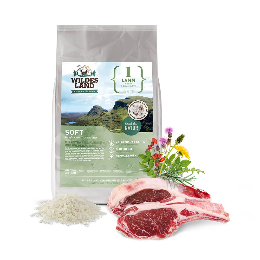Wildes Land Soft Adult     Jagnięcina z ryżem i dzikimi ziołami