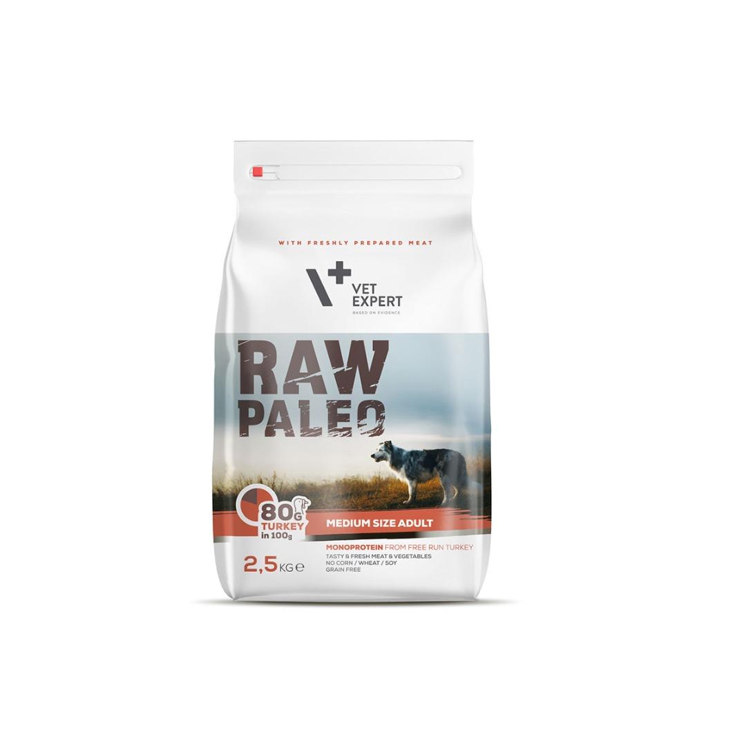 Raw Paleo dla psów dorosłych średnich ras z indykiem  2.5kg