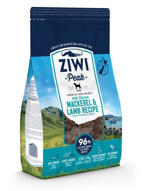 iwiPeak Air Dried Dog Food Macrel & Lamb Makrela z Jagnięciną