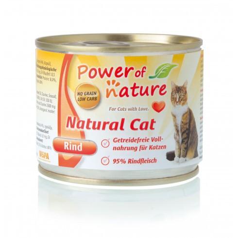 Power of Nature Natural Cat - mokra karma dla kota wołowina 200 g