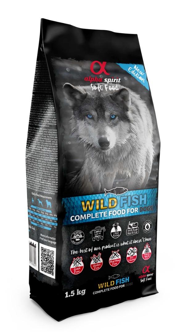 Alpha Spirit Wild fish - sucha miękka karma dla psa z rybą (200 g-9 kg)