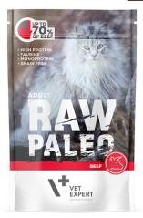 RAW PALEO CAT ADULT BEEF - karma mokra dla dorosłych kotów z wołowiną 100 g  VETEXPERT