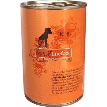 Dogz Finefood nr.8 – Indyk i kozina (200 g-400 g)