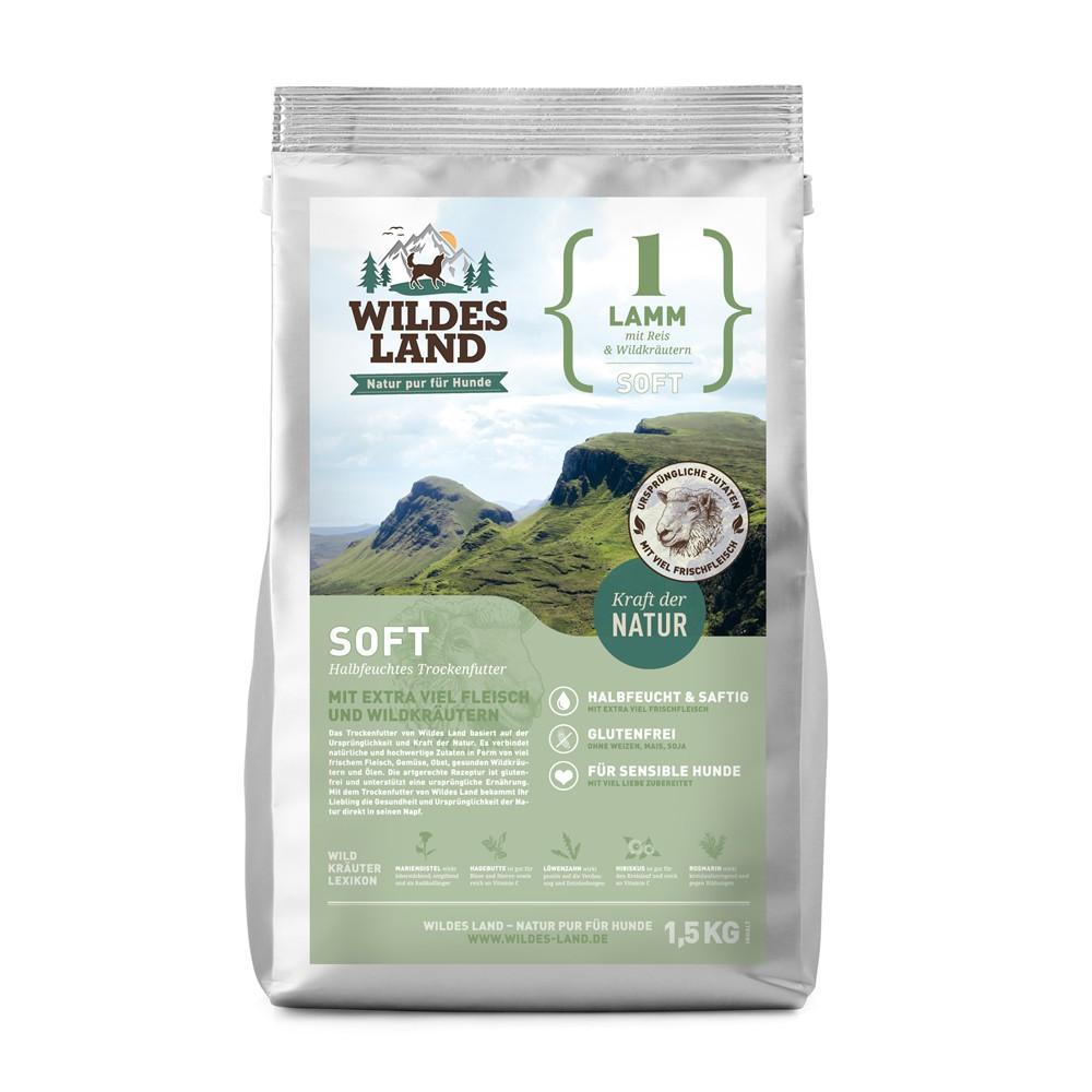 Wildes Land Soft  No 1 lamb-półwilgotna  karma dla psów-jagnięcina 1,5 kg