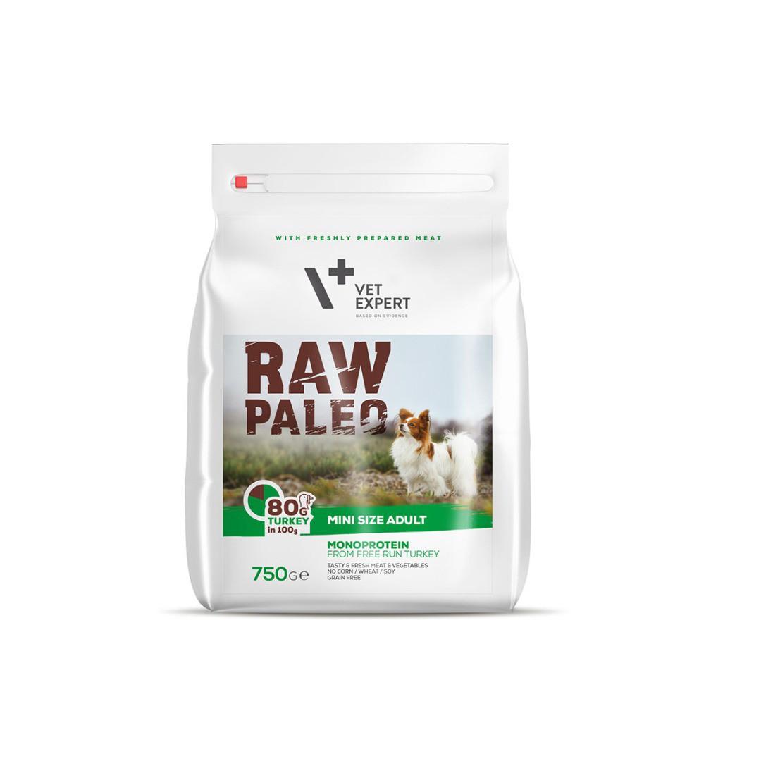 Raw Paleo dla psów dorosłych małych ras z indykiem 750g