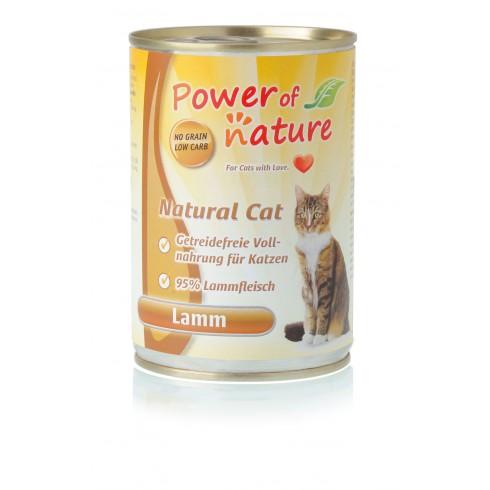 Power of Nature Natural Cat - mokra karma dla kota jagnięcina 400 g