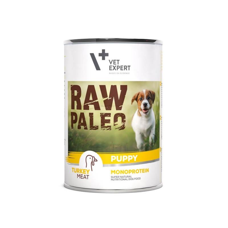 RAW PALEO DOG PUPPY INDYK - Monoproteinowa karma dla szczeniąt (400 g -6x400g)