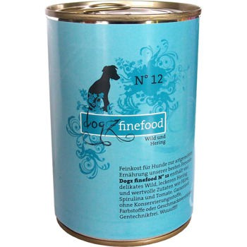 Dogz Finefood nr.12 - Dziczyzna i śledź 400 g