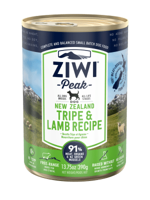 ZiwiPeak Dog Wet Tripe & Lamb w  puszce (390 g-6x390g)