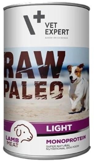 RAW PALEO DOG ADULT  LIGHT LAMB Niskokaloryczna - Puszka dla psa (400 g -6x400g)