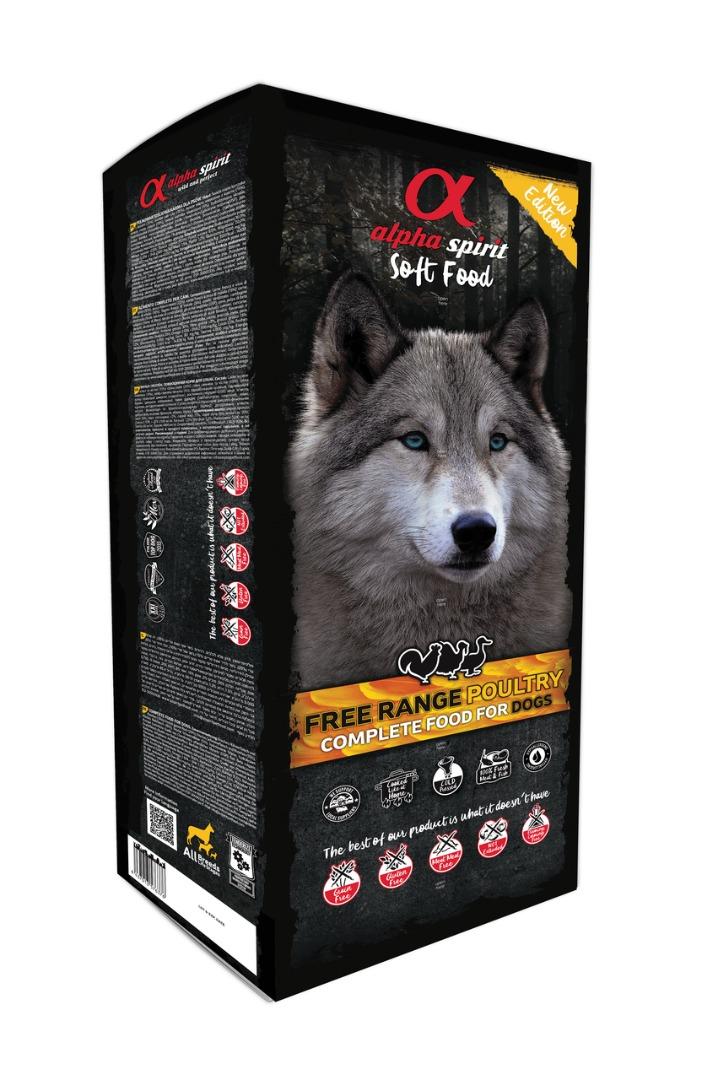 Alpha Spirit Poultry - miękka (półwilgotna) karma dla psa  (200 g-9 kg)