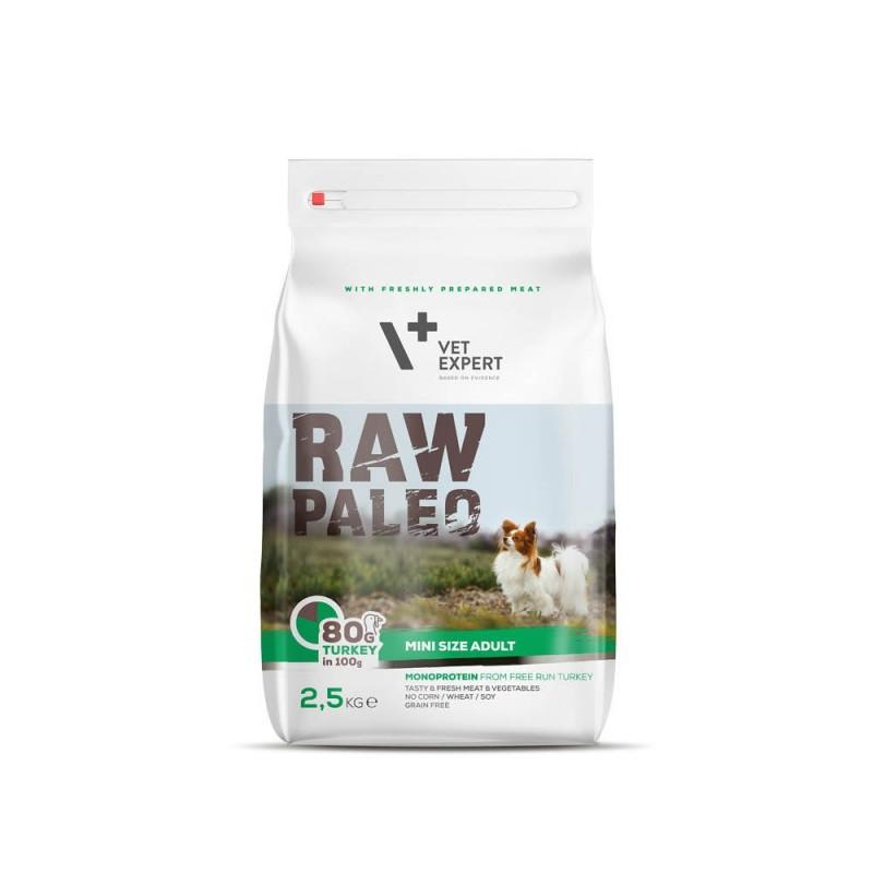 Raw Paleo dla psów dorosłych małych ras z indykiem 2.5kg