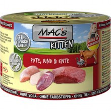Mac's  kitten, indyk, wołowina i kaczka dla kociat  (200g-400g)