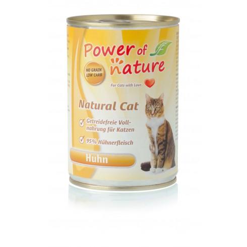 Power of Nature Natural Cat - mokra karma dla kota kurczak 400 g