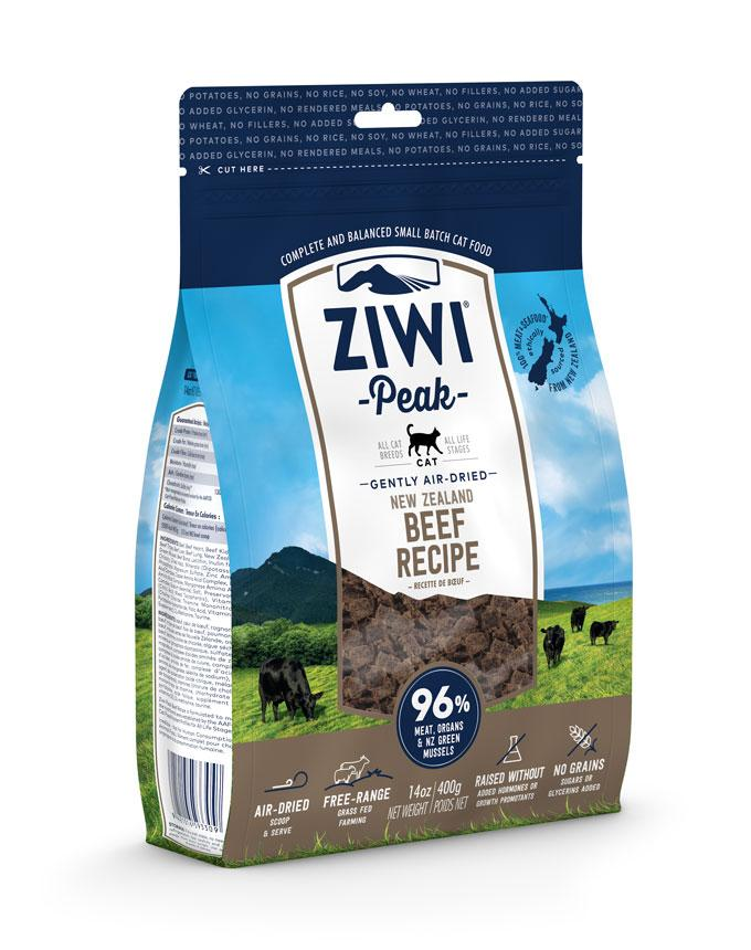 ZiwiPeak Cat Air Dried Beef Wołowina 400g