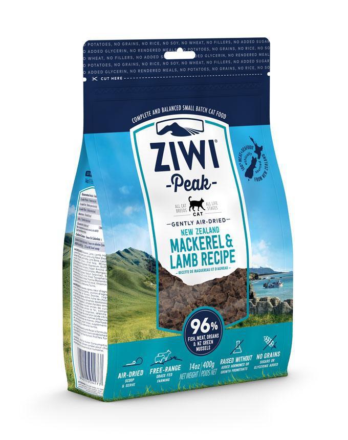 ZiwiPeak Cat Air Dried Mackerel & Lamb   (Makrela i Jagnięcina)  400g