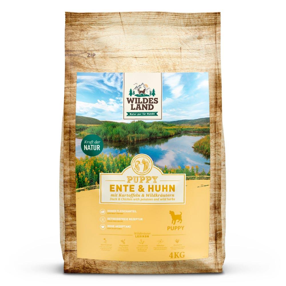 Wildes Land Classic -sucha karma dla  szczeniąt (puppy)-kaczka i kurczak  4 kg