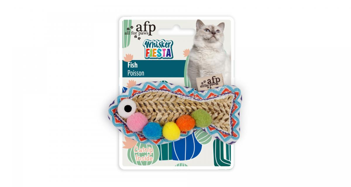 Whisker Fiesta Fish - zabawka w kształcie ryby z kocimiętką
