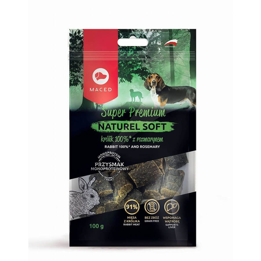 MACED Super Premium Naturel Soft królik z rozmarynem dla psa  100g.
